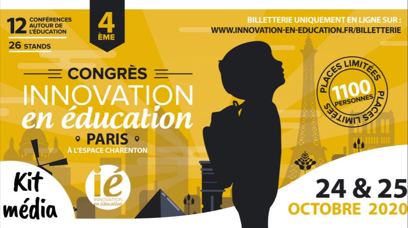 Retrouvez-nous au Congrès Innovation en Education (le 24/25 Octobre 2020)